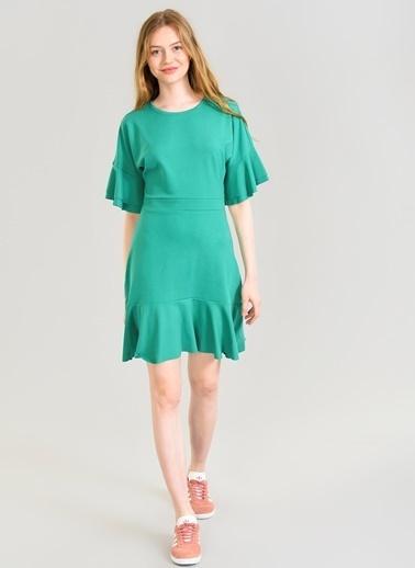Volanlı Örme Elbise-Agenda